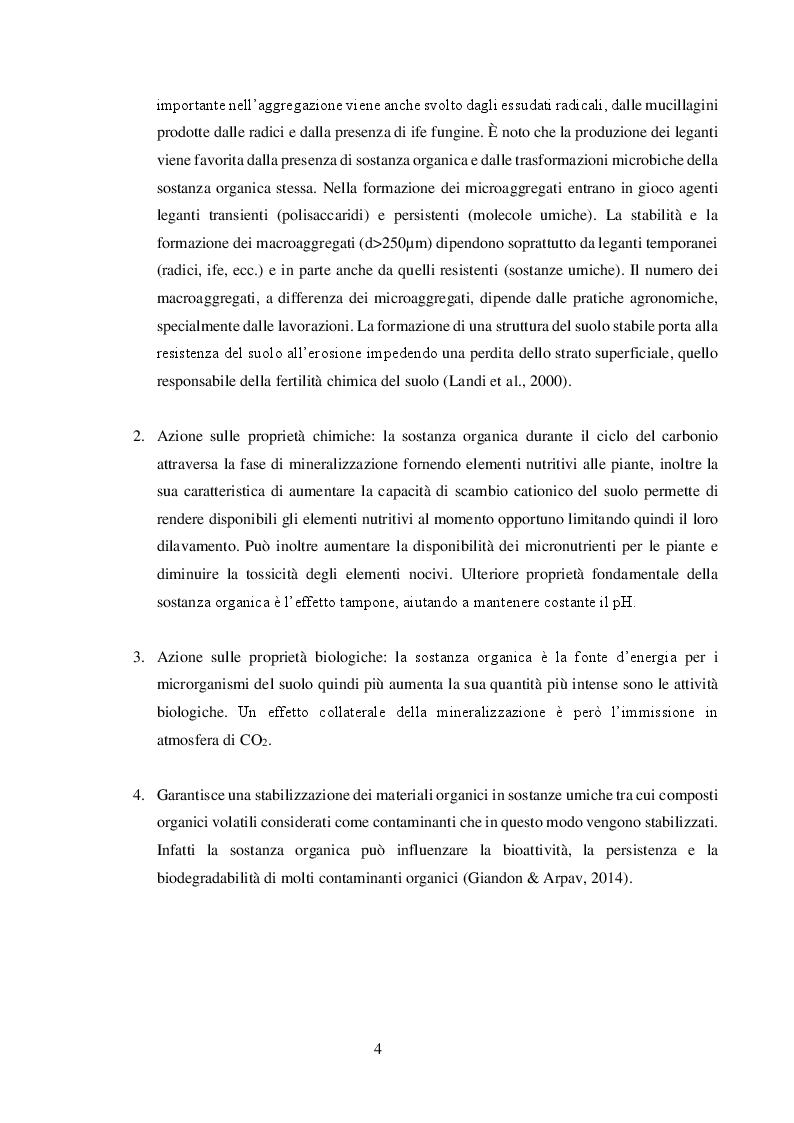 Anteprima della tesi: Valore agronomico ed effetti ambientali del compost da digestato, Pagina 5