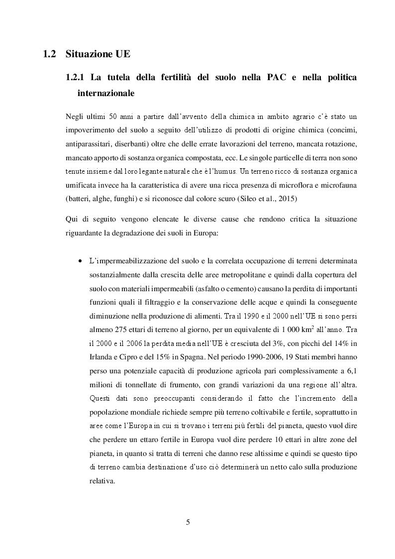 Anteprima della tesi: Valore agronomico ed effetti ambientali del compost da digestato, Pagina 6