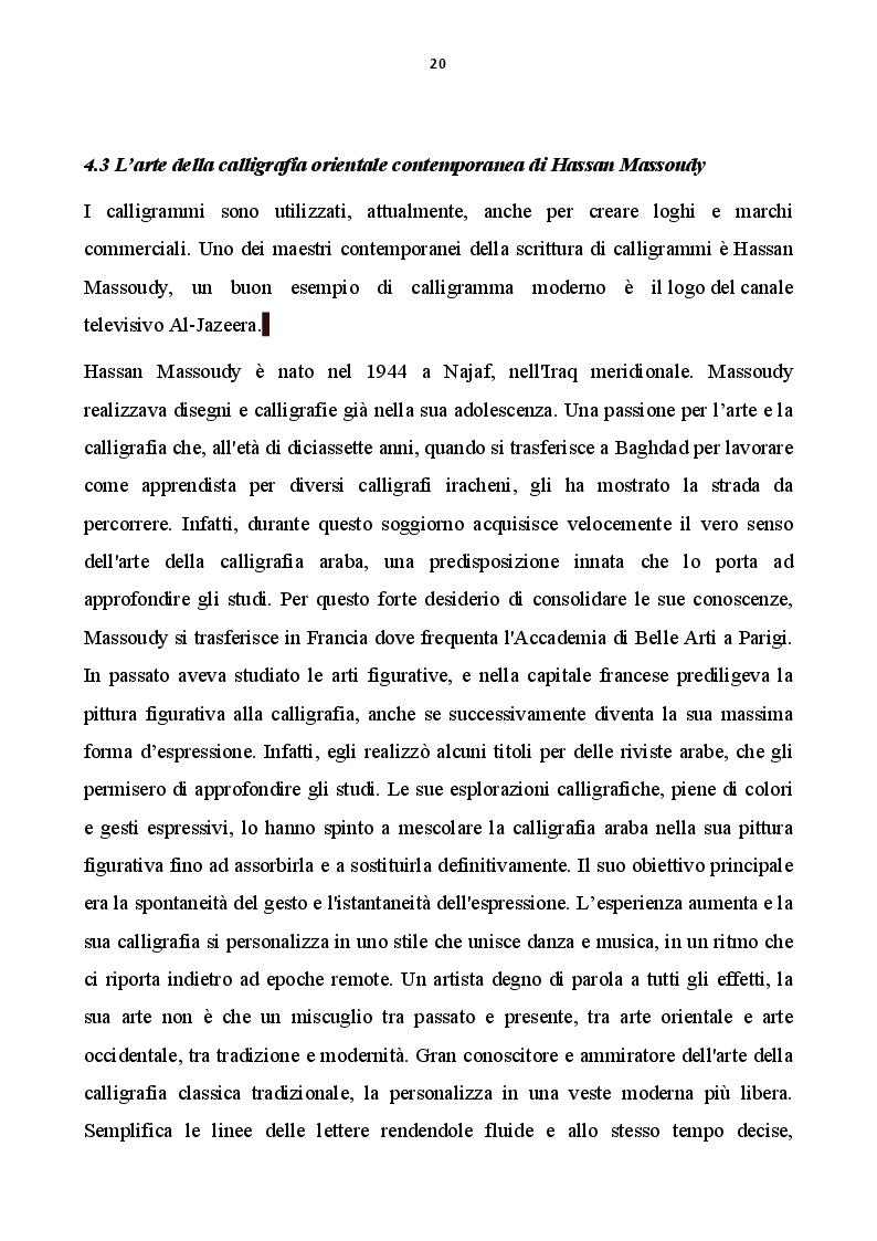 Estratto dalla tesi: Calligrafia estremo-orientale e calligrafia occidentale