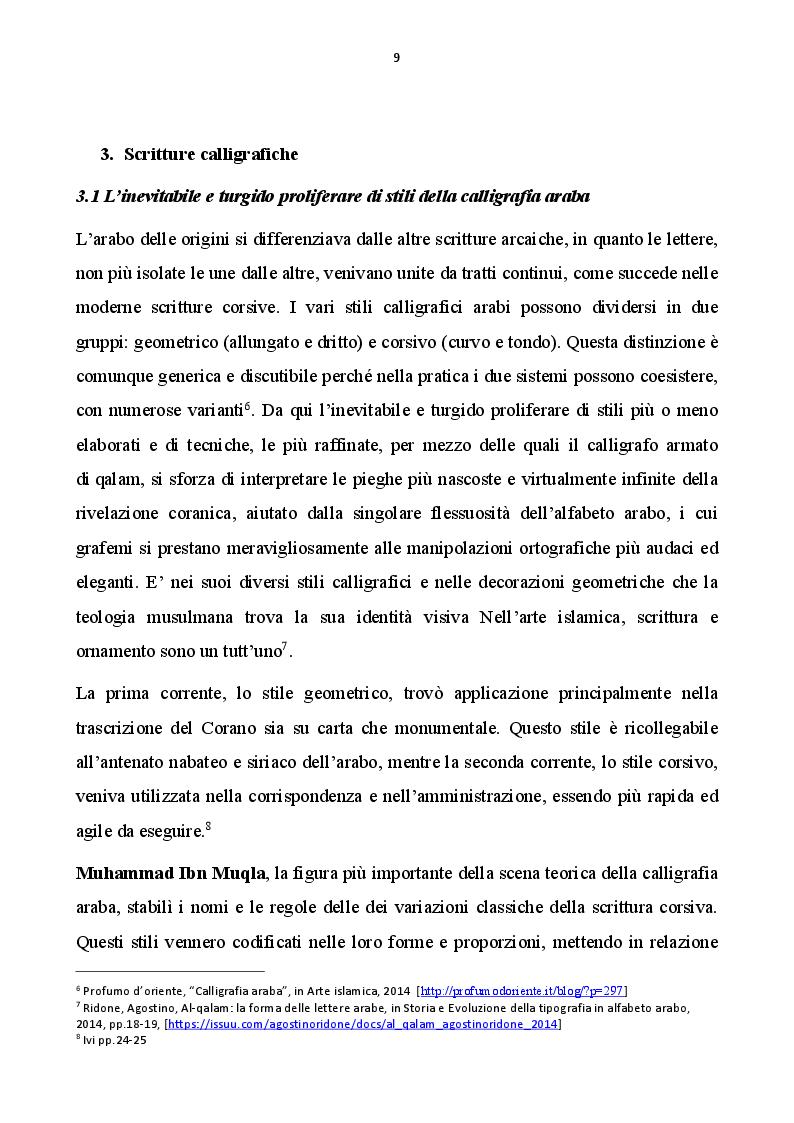 Anteprima della tesi: Calligrafia estremo-orientale e calligrafia occidentale, Pagina 2