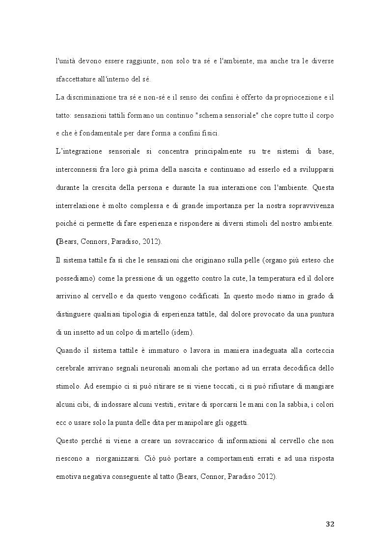 Anteprima della tesi: Percorsi di integrazione sensoriale nel trattamento delle psicosi, Pagina 3