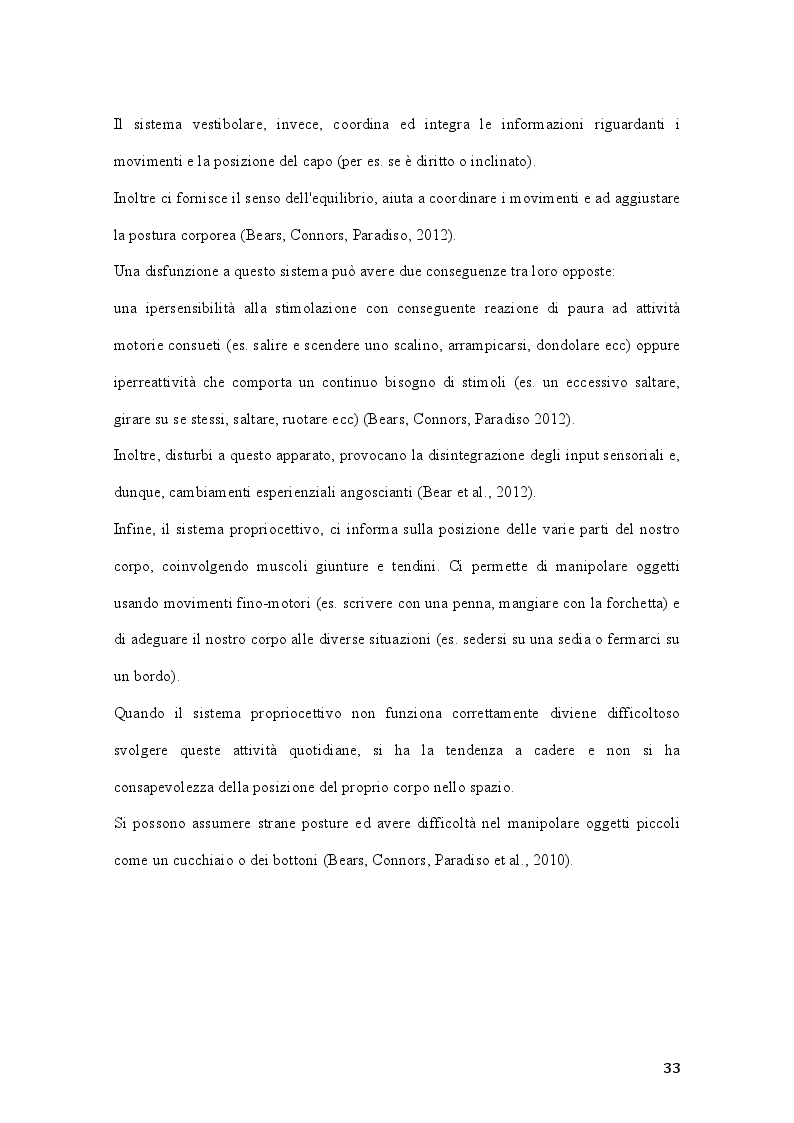 Anteprima della tesi: Percorsi di integrazione sensoriale nel trattamento delle psicosi, Pagina 4