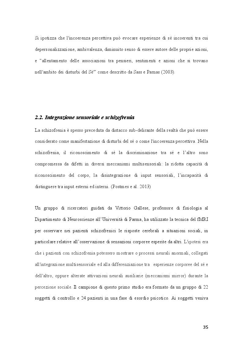 Anteprima della tesi: Percorsi di integrazione sensoriale nel trattamento delle psicosi, Pagina 6