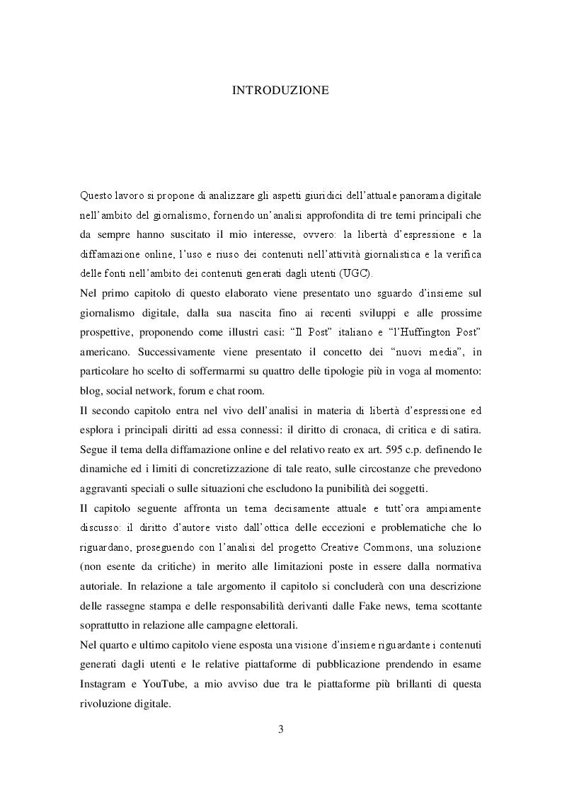 Anteprima della tesi: Profili giuridici del giornalismo digitale, Pagina 2