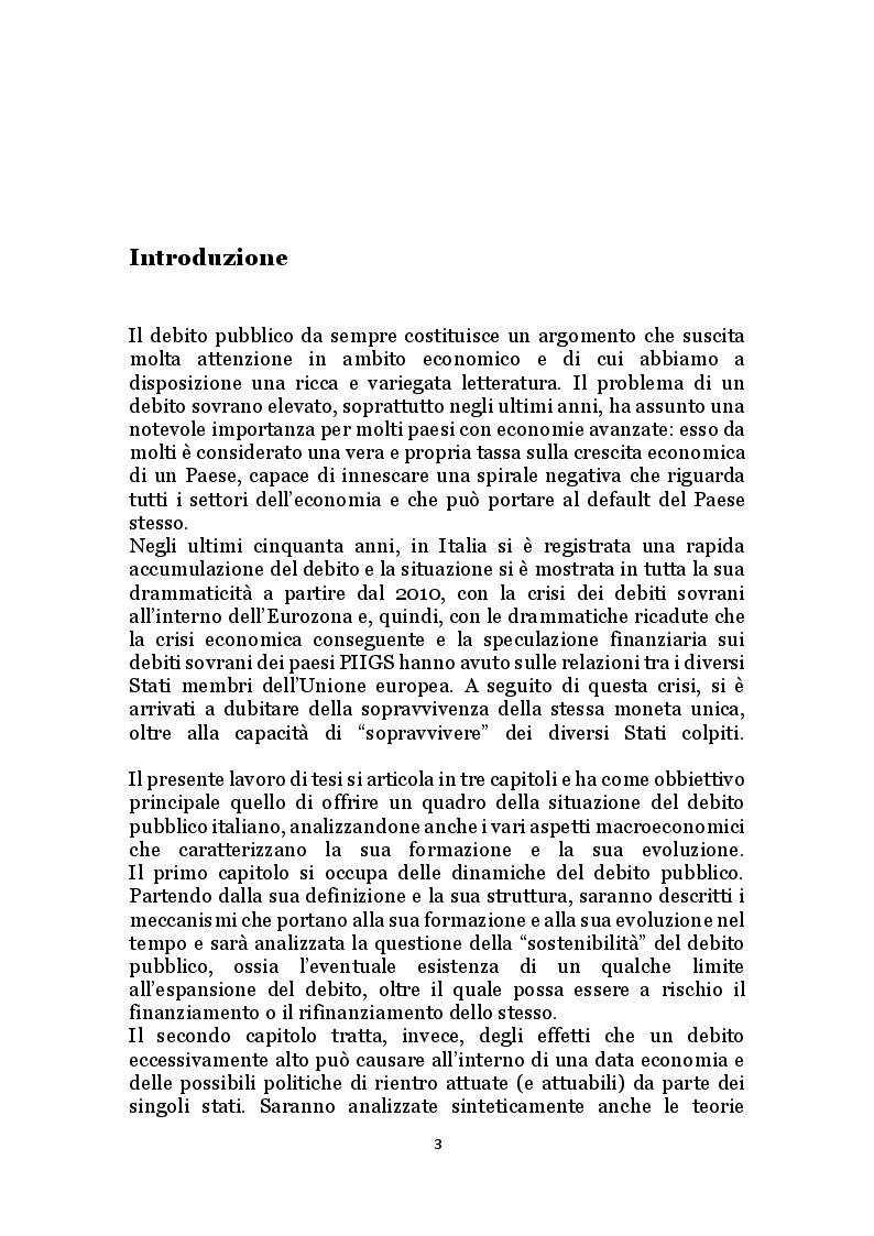 Anteprima della tesi: Il debito pubblico e i programmi di aggiustamento economico: il caso italiano dal secondo dopoguerra a oggi, Pagina 2