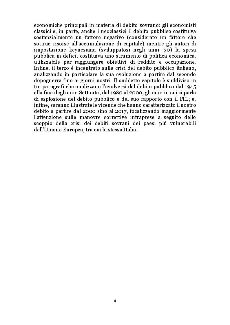Anteprima della tesi: Il debito pubblico e i programmi di aggiustamento economico: il caso italiano dal secondo dopoguerra a oggi, Pagina 3
