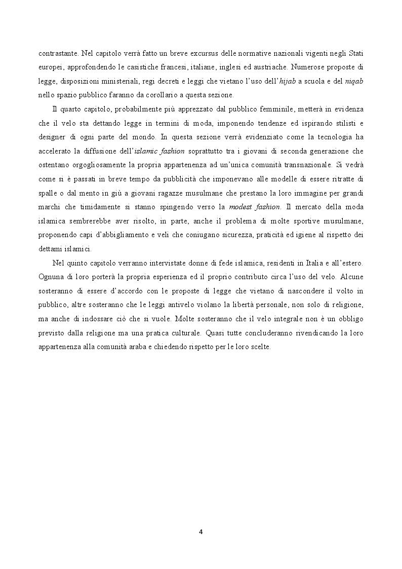 Anteprima della tesi: Il velo tra moda e sicurezza, Pagina 3