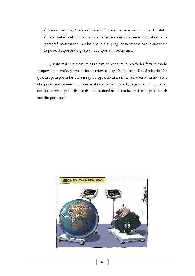Anteprima della tesi: Disuguaglianza Economica, Metodi Di Calcolo Ed Implicazioni Nella Povertà E Nella Crescita, Pagina 4