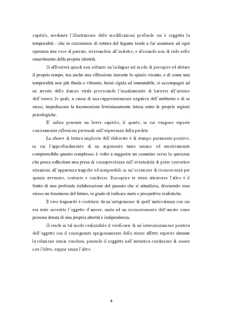 Anteprima della tesi: Perdersi per ritrovarsi: l'esperienza della perdita e la riscoperta di se stessi, Pagina 3