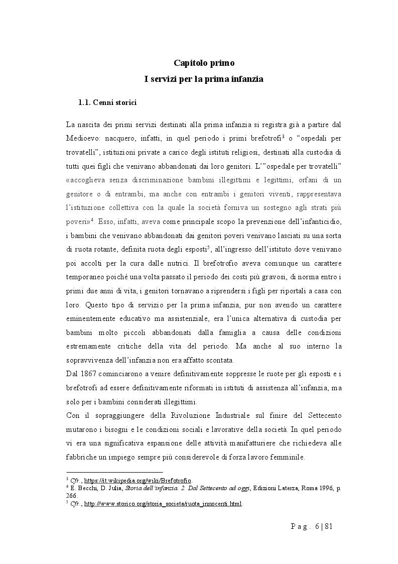 Anteprima della tesi: Progettare un nido d'infanzia: orientamenti pedagogici, spazi, tempi, funzionamento, Pagina 2