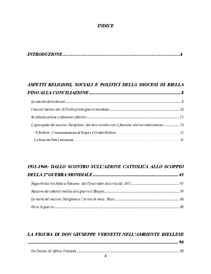 Indice della tesi: Occupanti tedeschi, fascisti repubblicani e movimento partigiano: una mediazione cattolica a Biella. Il caso di radio Baita, Pagina 1