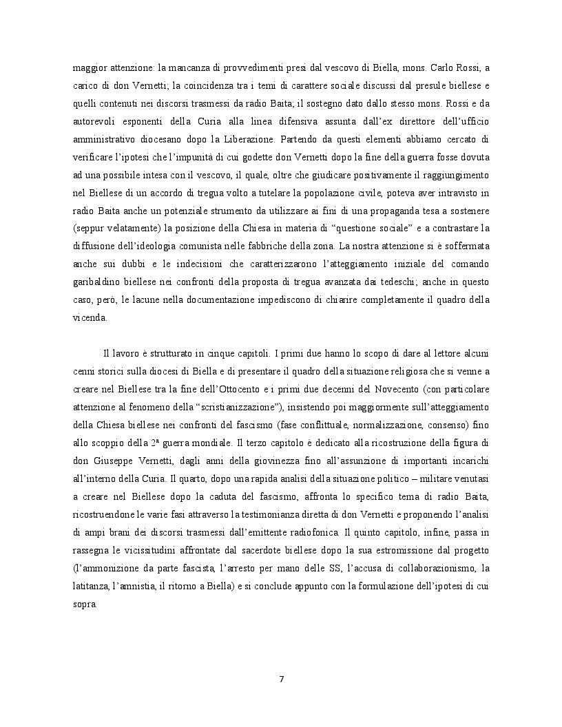 Anteprima della tesi: Occupanti tedeschi, fascisti repubblicani e movimento partigiano: una mediazione cattolica a Biella. Il caso di radio Baita, Pagina 3