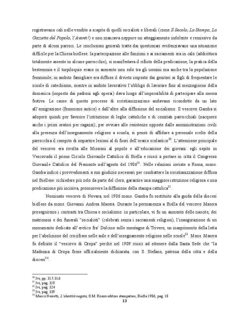 Anteprima della tesi: Occupanti tedeschi, fascisti repubblicani e movimento partigiano: una mediazione cattolica a Biella. Il caso di radio Baita, Pagina 9