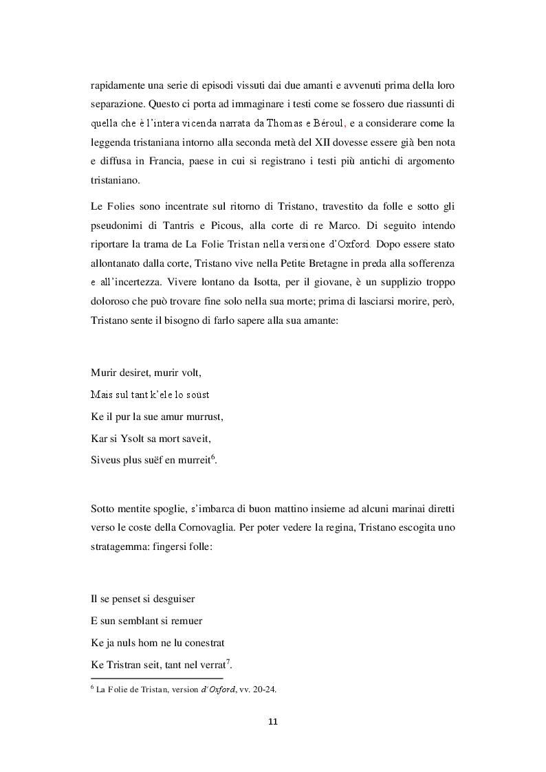 Anteprima della tesi: Travestimento e agnizione. Il percorso del riconoscimento nella versione Oxford della Folie Tristan, Pagina 4