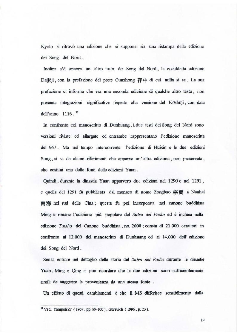 Anteprima della tesi: Il Sutra del Podio del Sesto Patriarca. Analisi di alcuni aspetti linguistici, Pagina 13