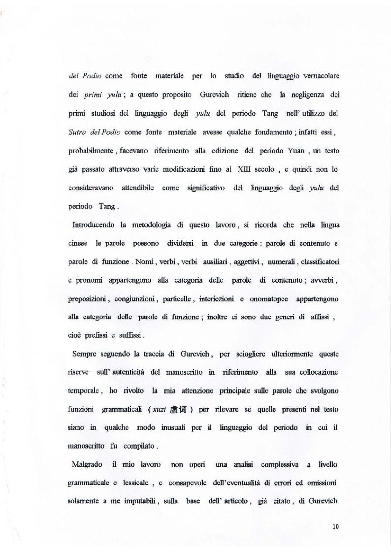 Anteprima della tesi: Il Sutra del Podio del Sesto Patriarca. Analisi di alcuni aspetti linguistici, Pagina 4