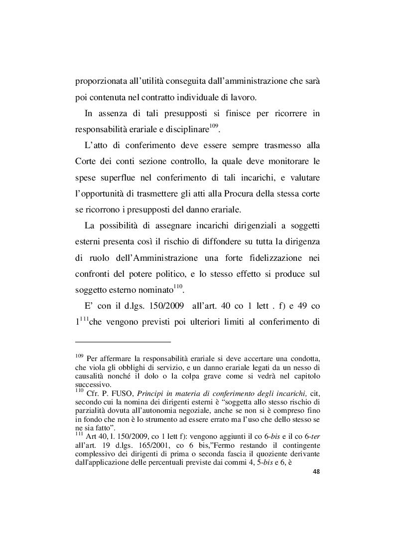 Estratto dalla tesi: La responsabilità amministrativa per illecito conferimento di incarichi esterni