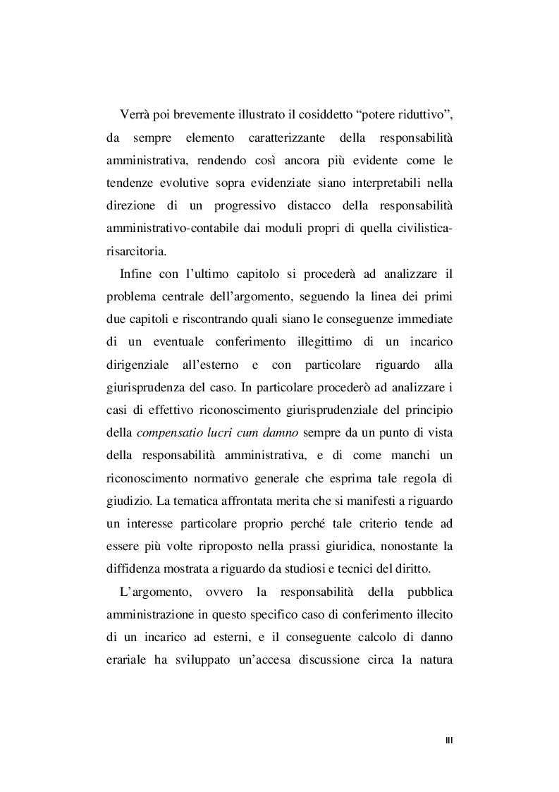 Anteprima della tesi: La responsabilità amministrativa per illecito conferimento di incarichi esterni, Pagina 4