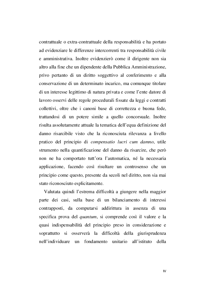 Anteprima della tesi: La responsabilità amministrativa per illecito conferimento di incarichi esterni, Pagina 5
