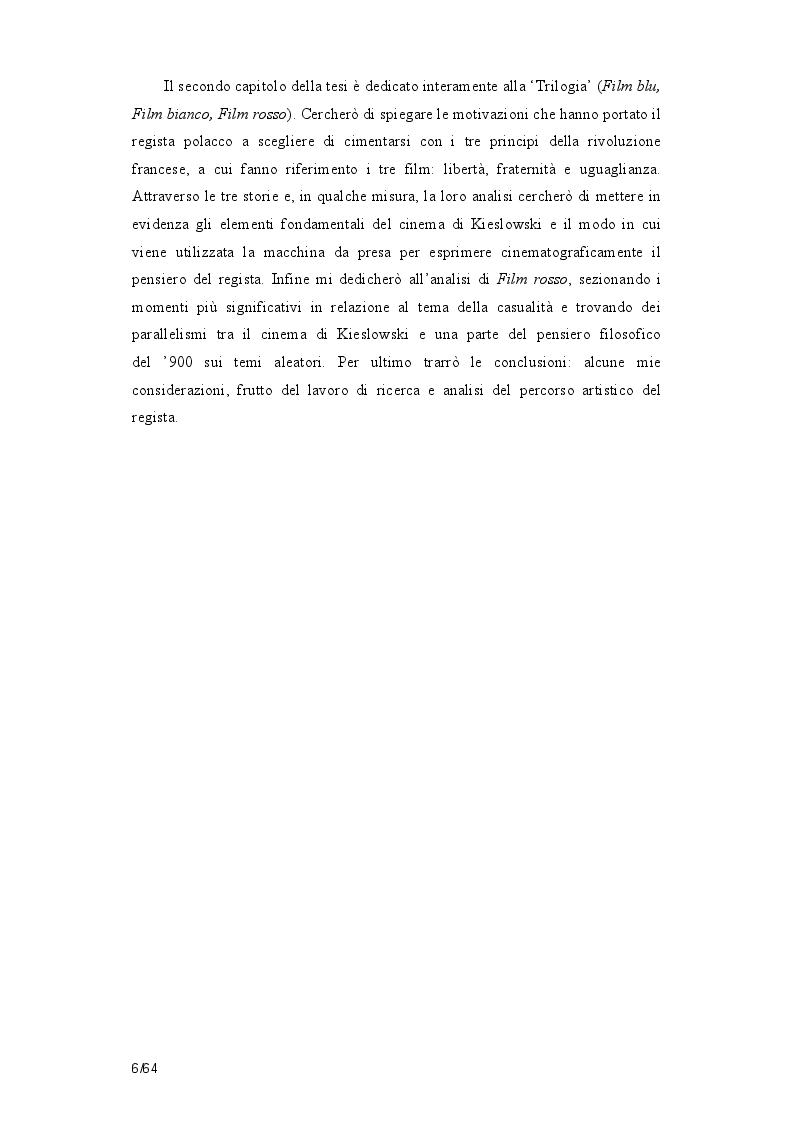 Anteprima della tesi: La poetica della casualità in Film rosso di Krzysztof  Kieslowsi, Pagina 3