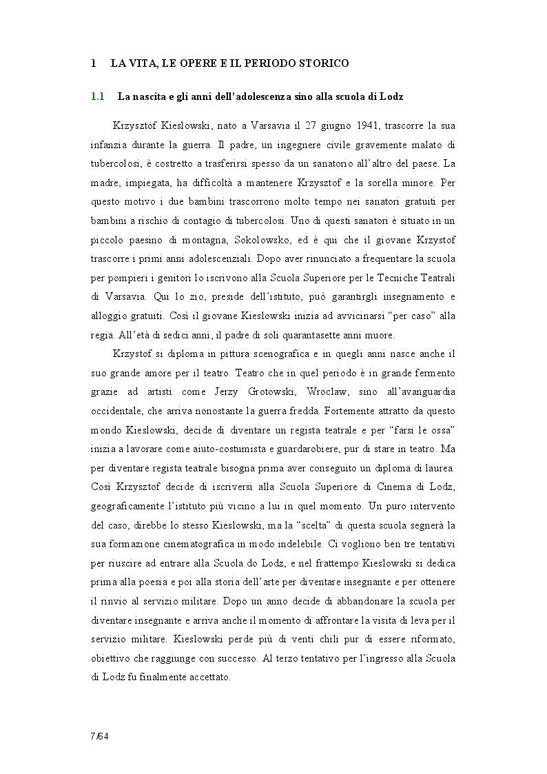 Anteprima della tesi: La poetica della casualità in Film rosso di Krzysztof  Kieslowsi, Pagina 4