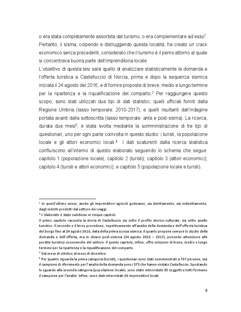 Anteprima della tesi: Turismo e terremoto: analisi degli impatti sismici sui flussi turistici a Castelluccio di Norcia. Proposte per la ripartenza e la riqualificazione del settore., Pagina 3