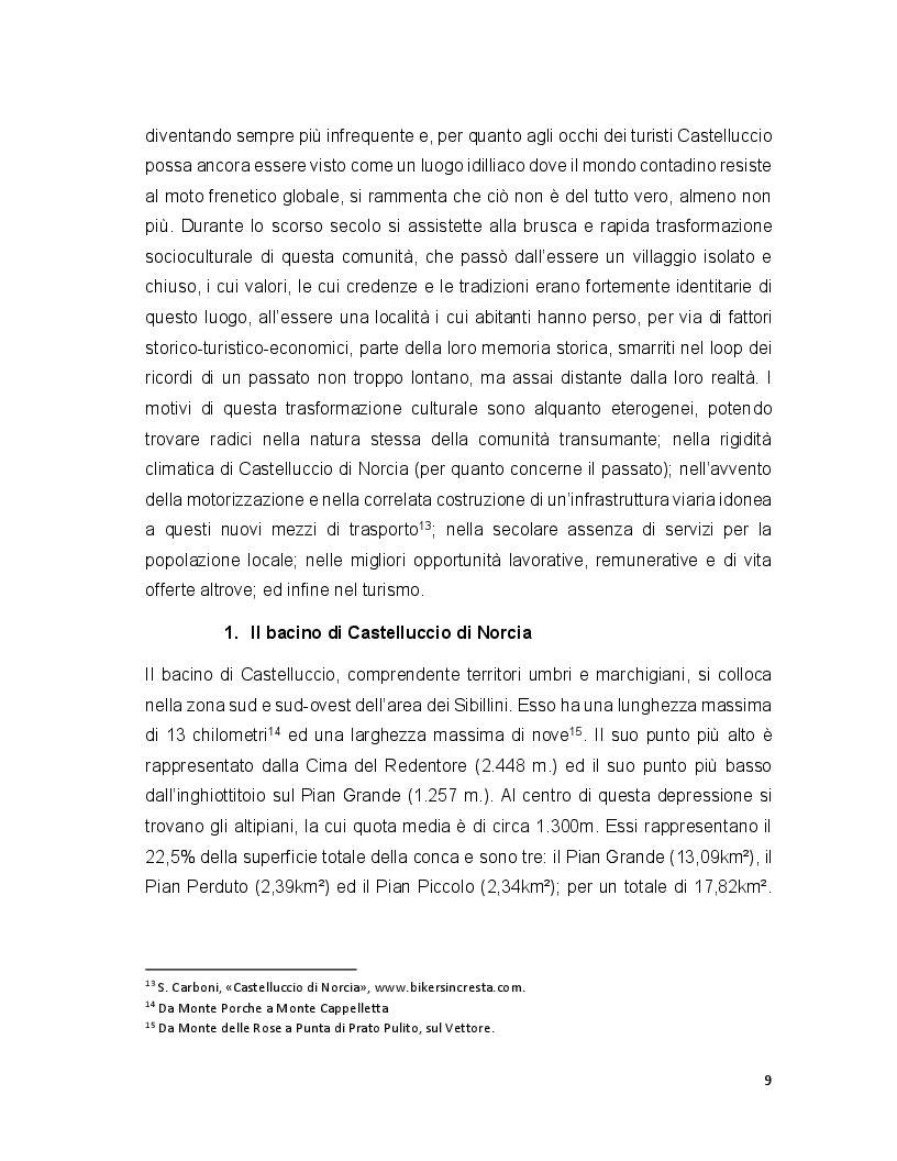 Anteprima della tesi: Turismo e terremoto: analisi degli impatti sismici sui flussi turistici a Castelluccio di Norcia. Proposte per la ripartenza e la riqualificazione del settore., Pagina 6