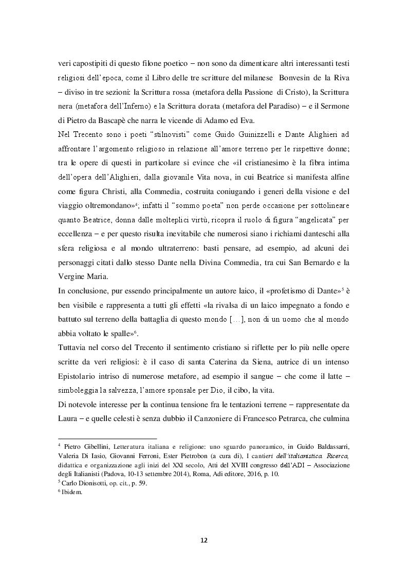 """Anteprima della tesi: """"Io trovo i miei versi intingendo il calamaio nel cielo"""": sentimento religioso e ispirazione poetica nella poesia di Alda Merini, Pagina 9"""