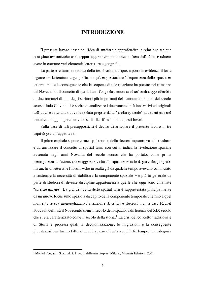 Anteprima della tesi: Spatial turn e gioco combinatorio nella narrativa di Italo Calvino: da ''Se una notte d'inverno un viaggiatore'' a ''Le città invisibili'', Pagina 2