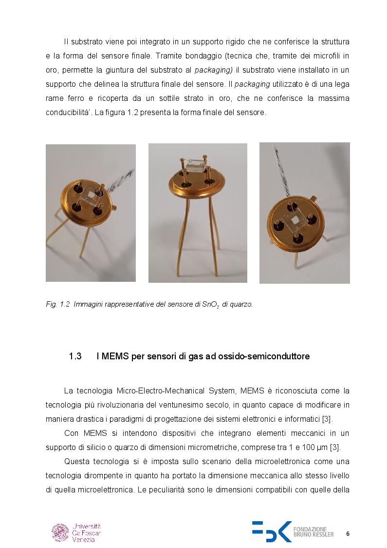 Anteprima della tesi: Caratterizzazione di sensori di gas chemoresistivi, Pagina 5