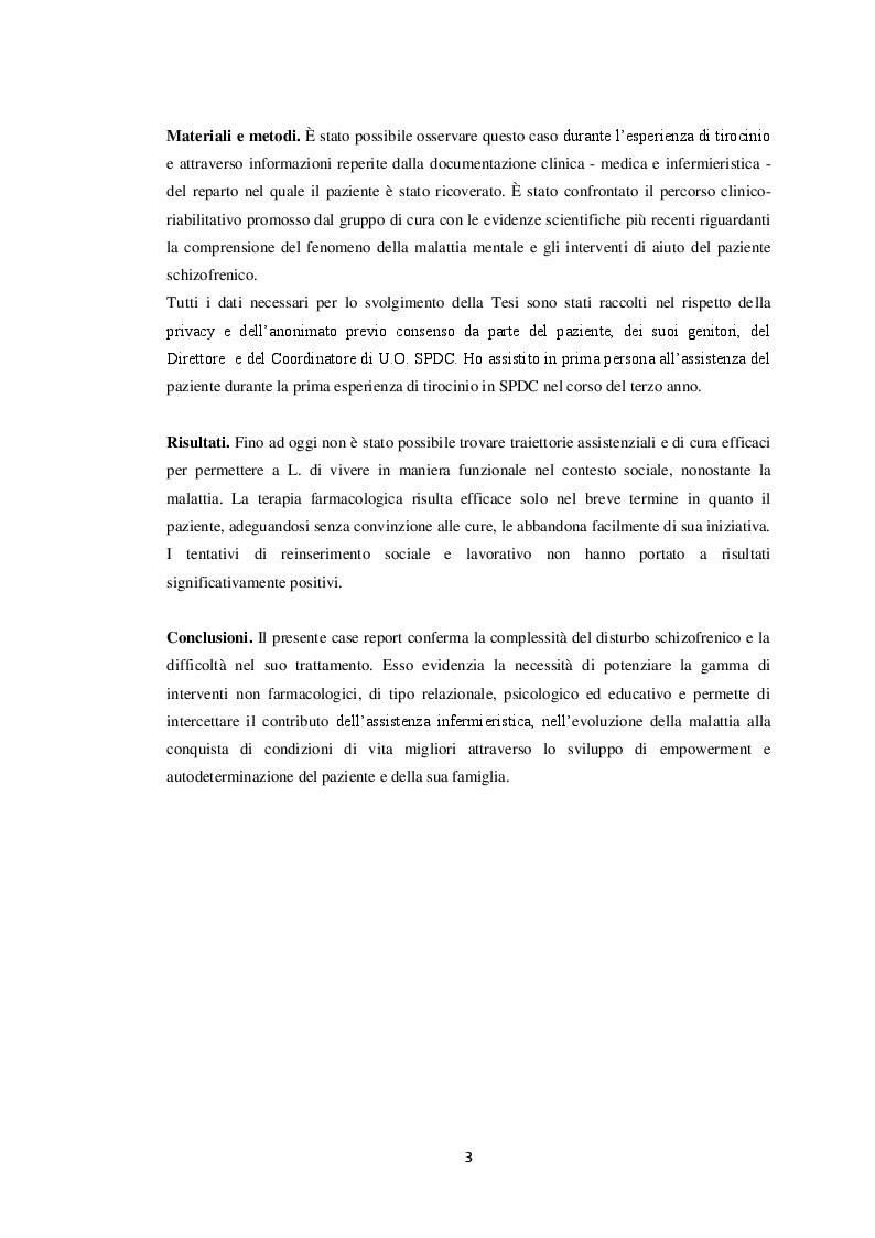 Anteprima della tesi: Il paziente schizofrenico: un caso di difficile comprensione (case report), Pagina 3
