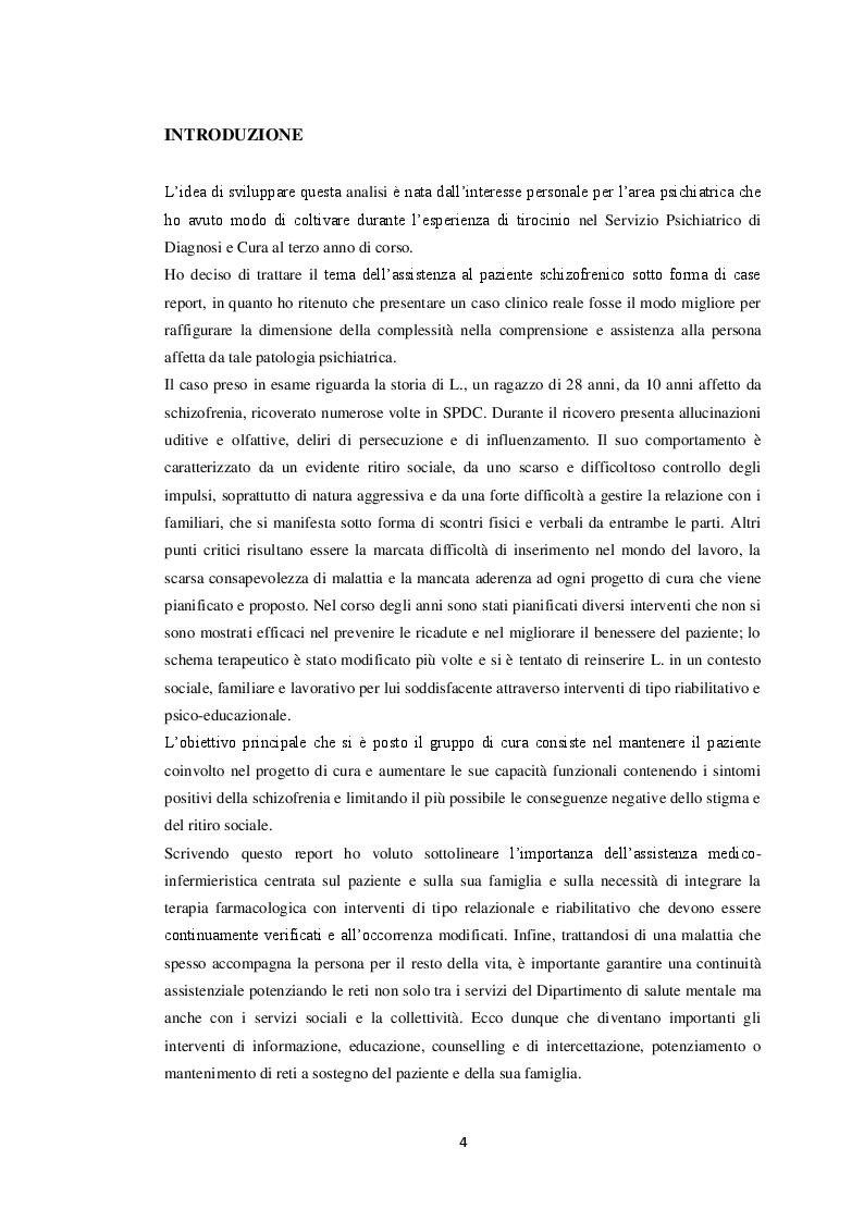 Anteprima della tesi: Il paziente schizofrenico: un caso di difficile comprensione (case report), Pagina 4