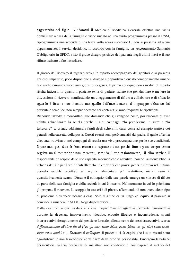Anteprima della tesi: Il paziente schizofrenico: un caso di difficile comprensione (case report), Pagina 6