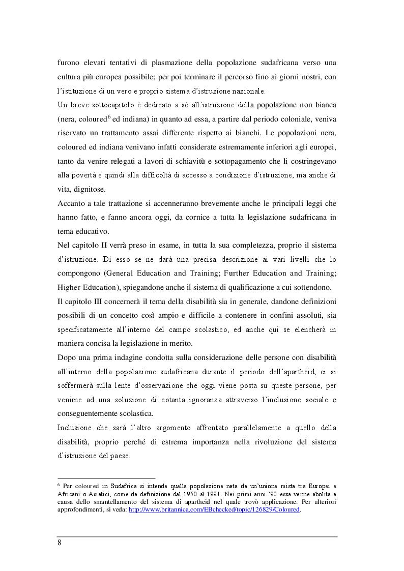 Anteprima della tesi: Il sistema scolastico sudafricano dal 1967 ad oggi, Pagina 5