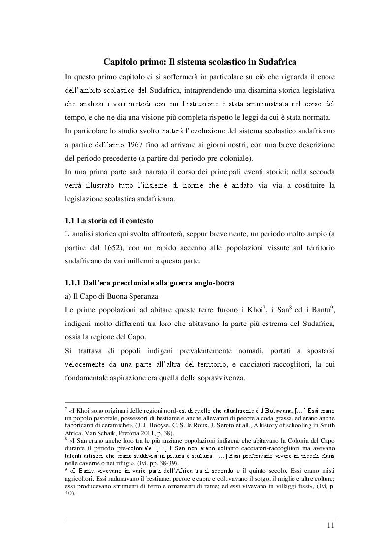 Anteprima della tesi: Il sistema scolastico sudafricano dal 1967 ad oggi, Pagina 7