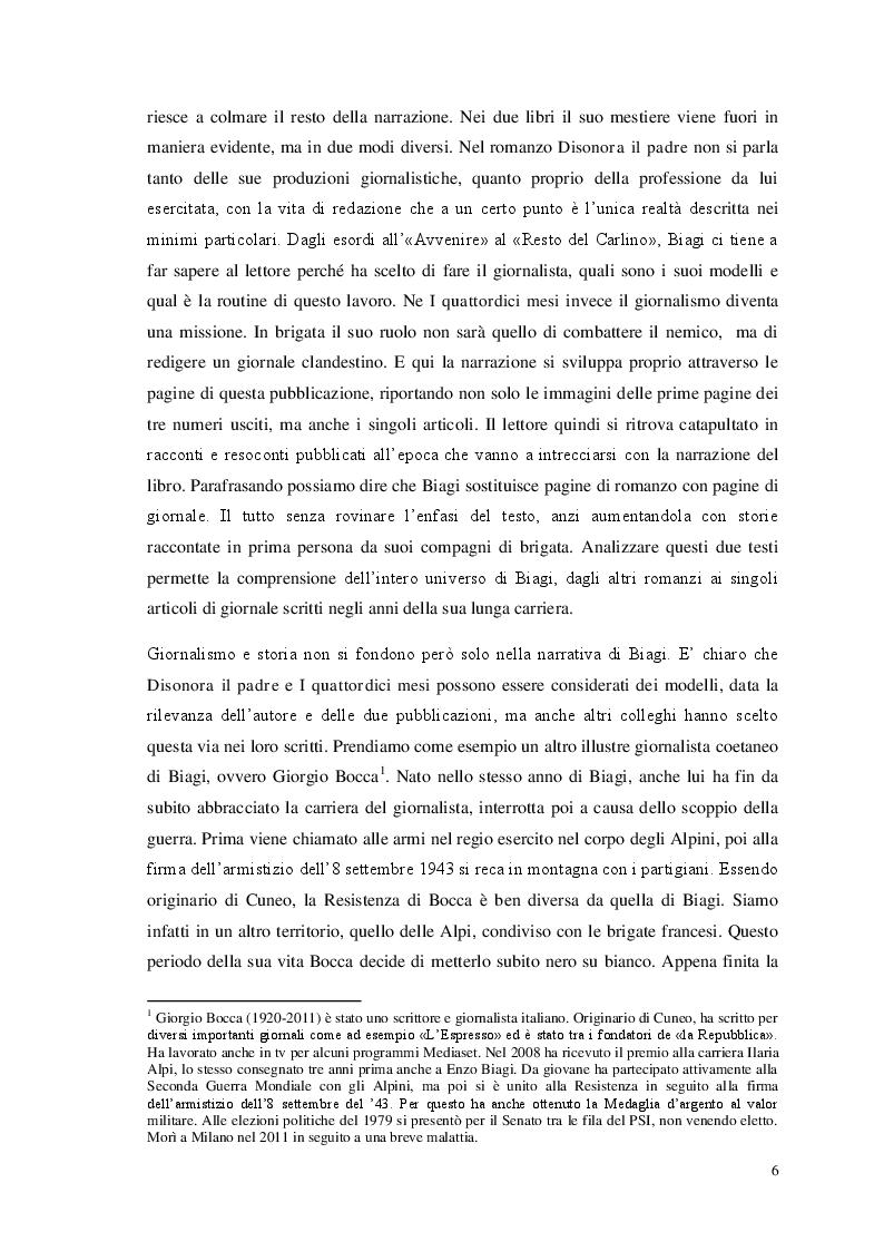 Anteprima della tesi: Storia e giornalismo nella narrativa di Enzo Biagi, Pagina 3