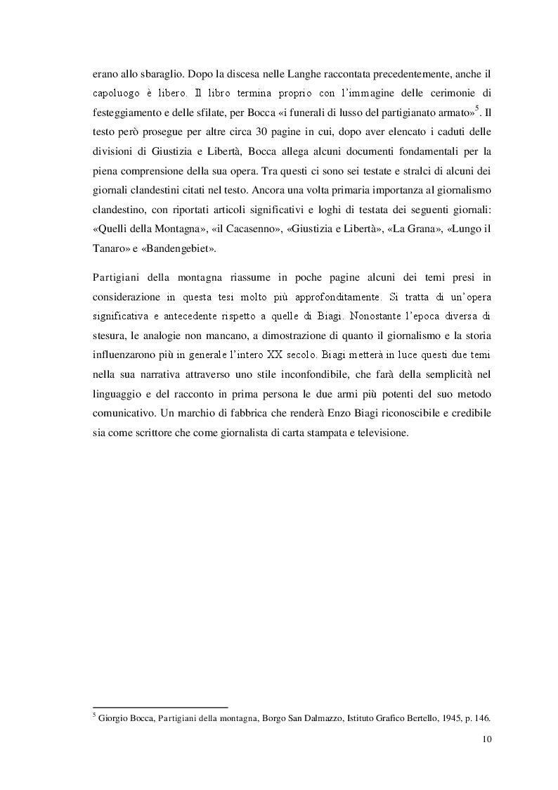 Anteprima della tesi: Storia e giornalismo nella narrativa di Enzo Biagi, Pagina 7