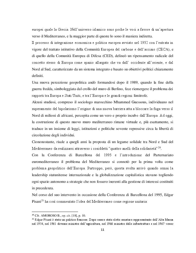 Anteprima della tesi: Il Parternariato di sicurezza nell'area euromediterranea: la questione dei migranti e del soccorso in mare, Pagina 4
