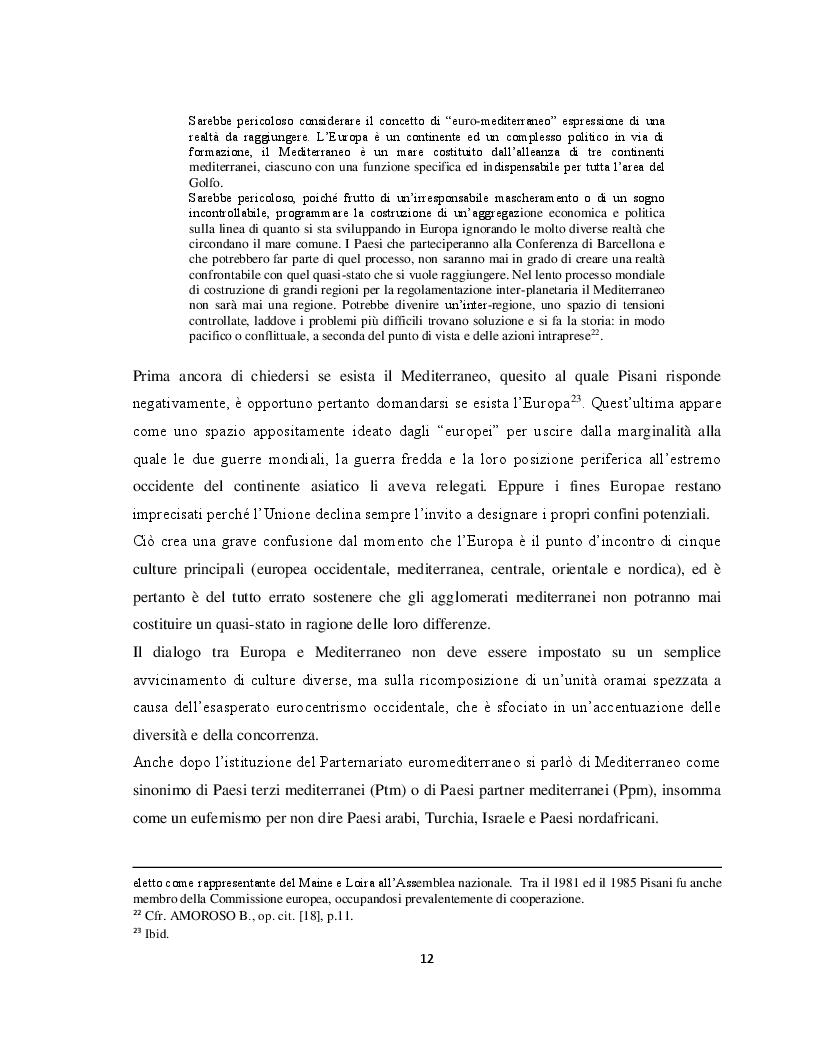 Anteprima della tesi: Il Parternariato di sicurezza nell'area euromediterranea: la questione dei migranti e del soccorso in mare, Pagina 5