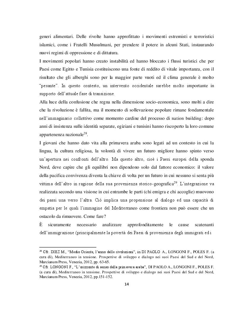 Anteprima della tesi: Il Parternariato di sicurezza nell'area euromediterranea: la questione dei migranti e del soccorso in mare, Pagina 7