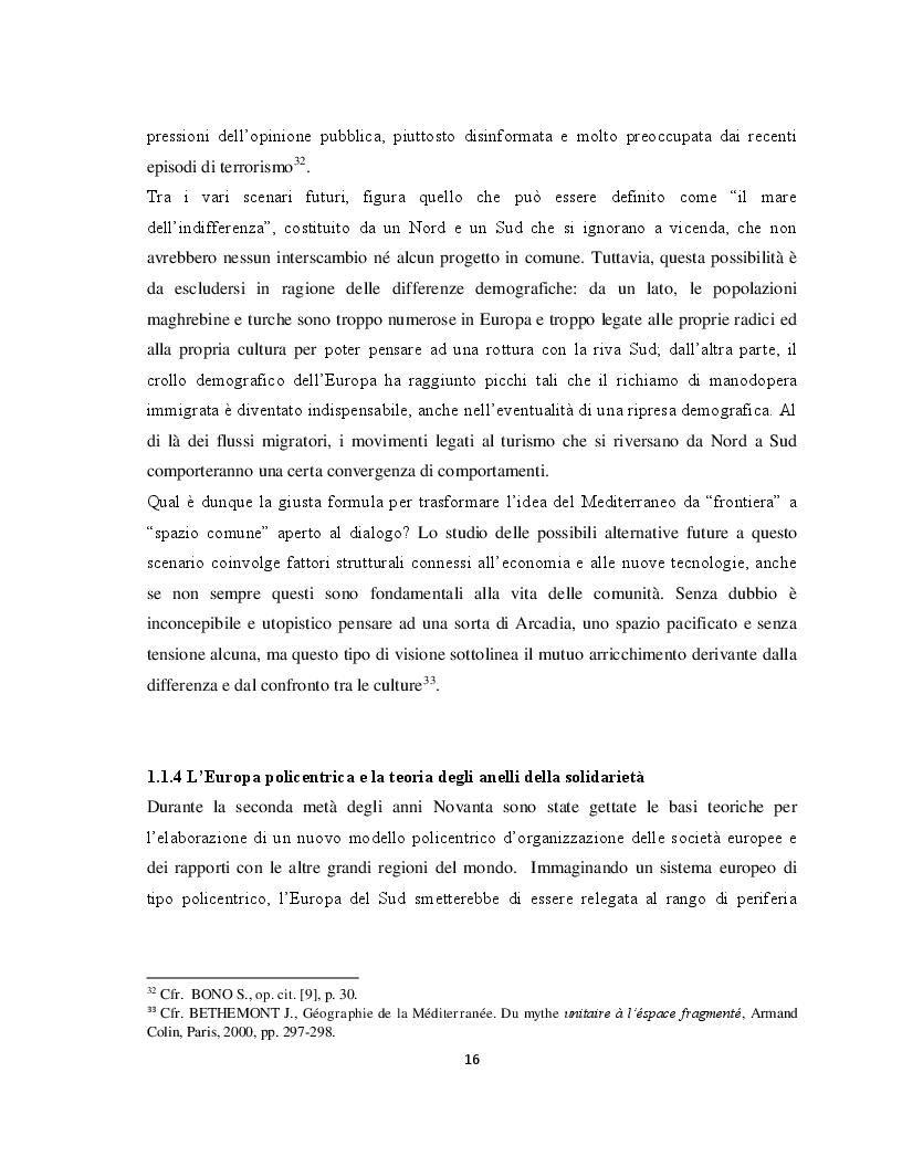 Anteprima della tesi: Il Parternariato di sicurezza nell'area euromediterranea: la questione dei migranti e del soccorso in mare, Pagina 9