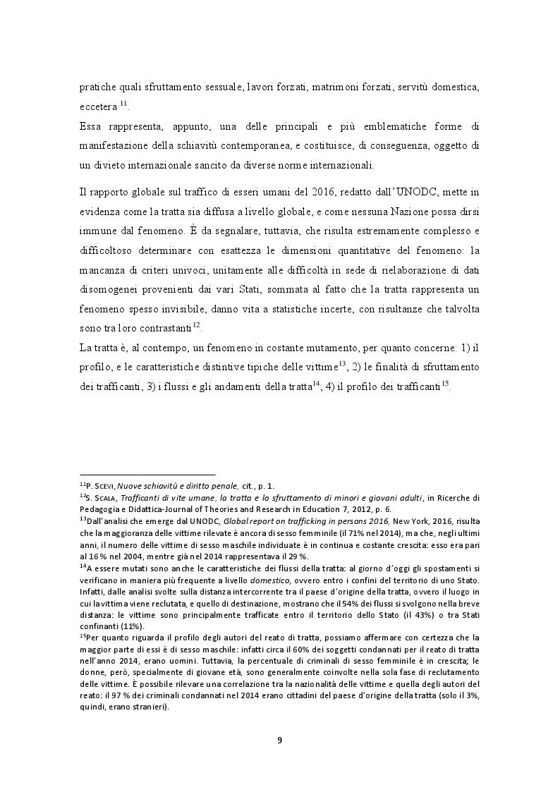 Anteprima della tesi: La prevenzione e la repressione penale della tratta di esseri umani: gli strumenti internazionali e le misure adottate nella legislazione italiana e nepalese, Pagina 10