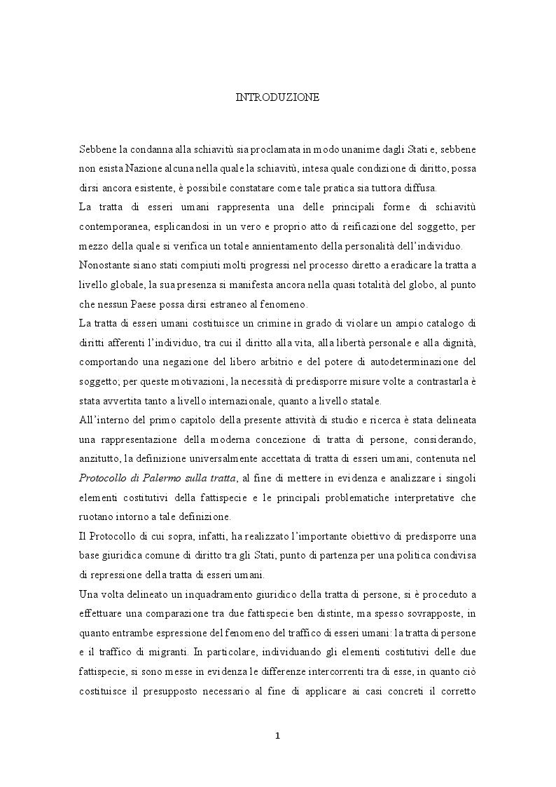 Anteprima della tesi: La prevenzione e la repressione penale della tratta di esseri umani: gli strumenti internazionali e le misure adottate nella legislazione italiana e nepalese, Pagina 2