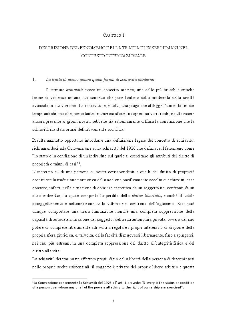 Anteprima della tesi: La prevenzione e la repressione penale della tratta di esseri umani: gli strumenti internazionali e le misure adottate nella legislazione italiana e nepalese, Pagina 6