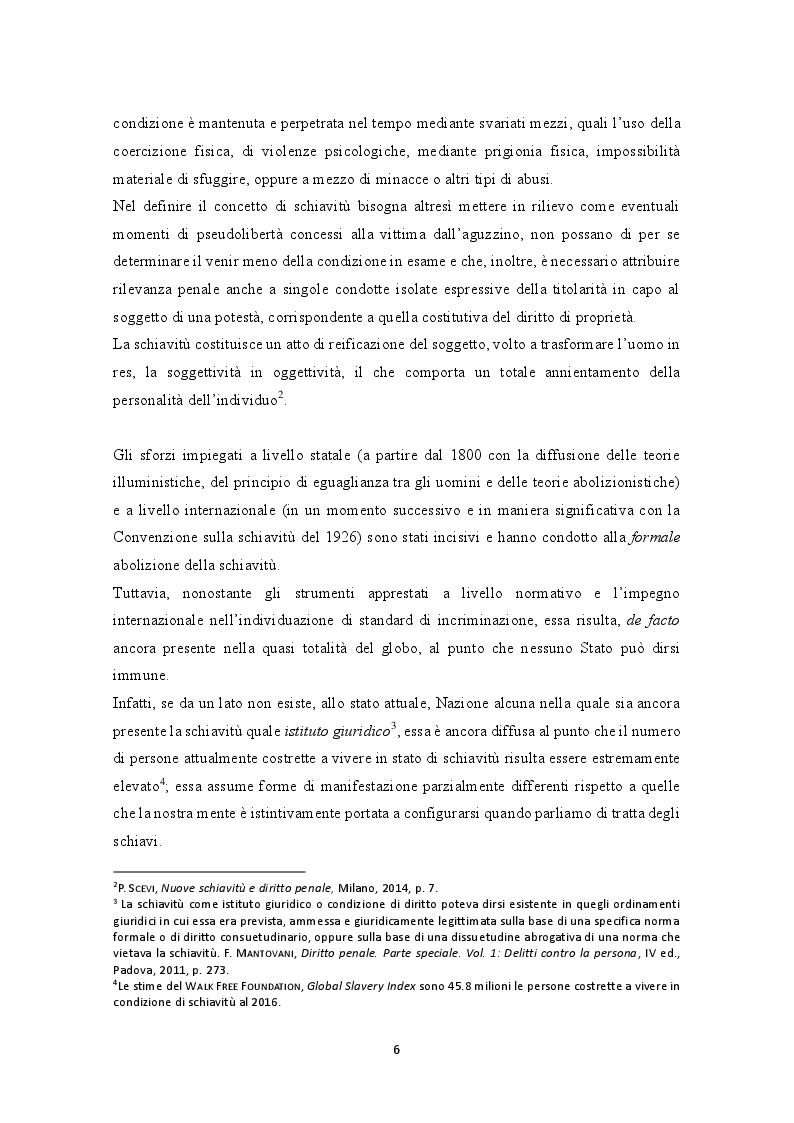 Anteprima della tesi: La prevenzione e la repressione penale della tratta di esseri umani: gli strumenti internazionali e le misure adottate nella legislazione italiana e nepalese, Pagina 7