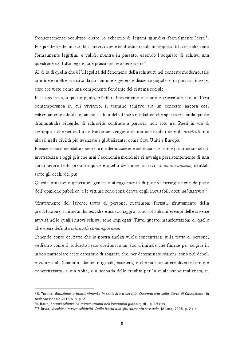 Anteprima della tesi: La prevenzione e la repressione penale della tratta di esseri umani: gli strumenti internazionali e le misure adottate nella legislazione italiana e nepalese, Pagina 9