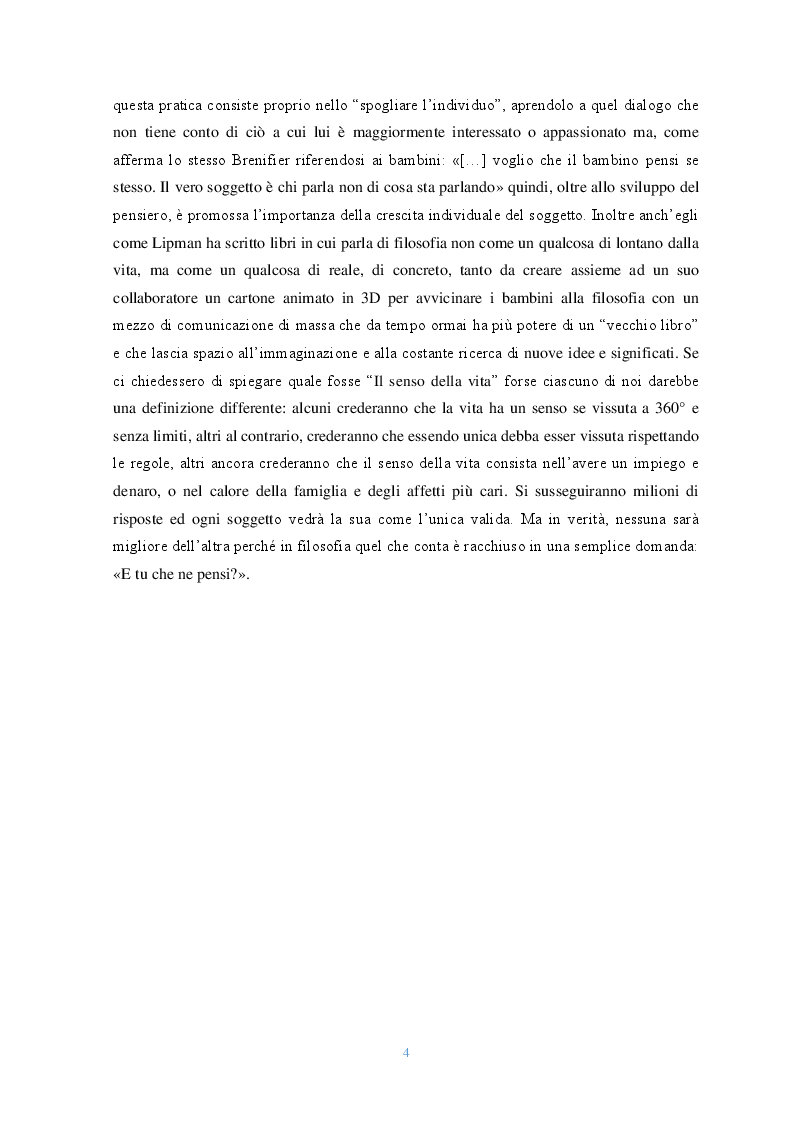 Anteprima della tesi: Lo sguardo filosofico dei bambini. Una riflessione introduttiva, Pagina 4