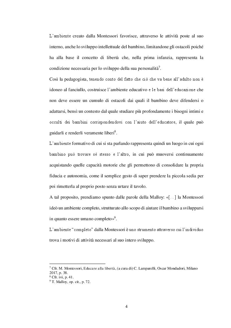 Anteprima della tesi: Il coordinatore in chiave montessoriana. Riflessioni sul metodo Montessori e sulla figura del coordinatore, Pagina 4