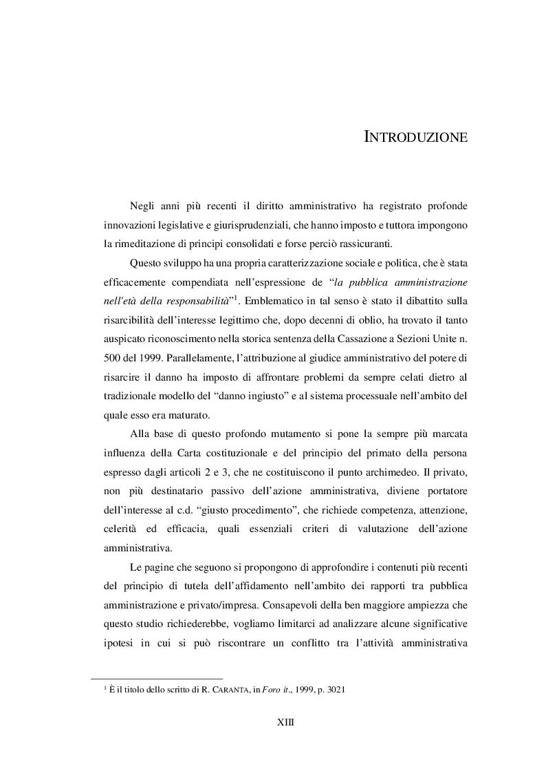 Anteprima della tesi: Affidamento dell'impresa e responsabilità procedimentale della Pubblica Amministrazione, Pagina 2