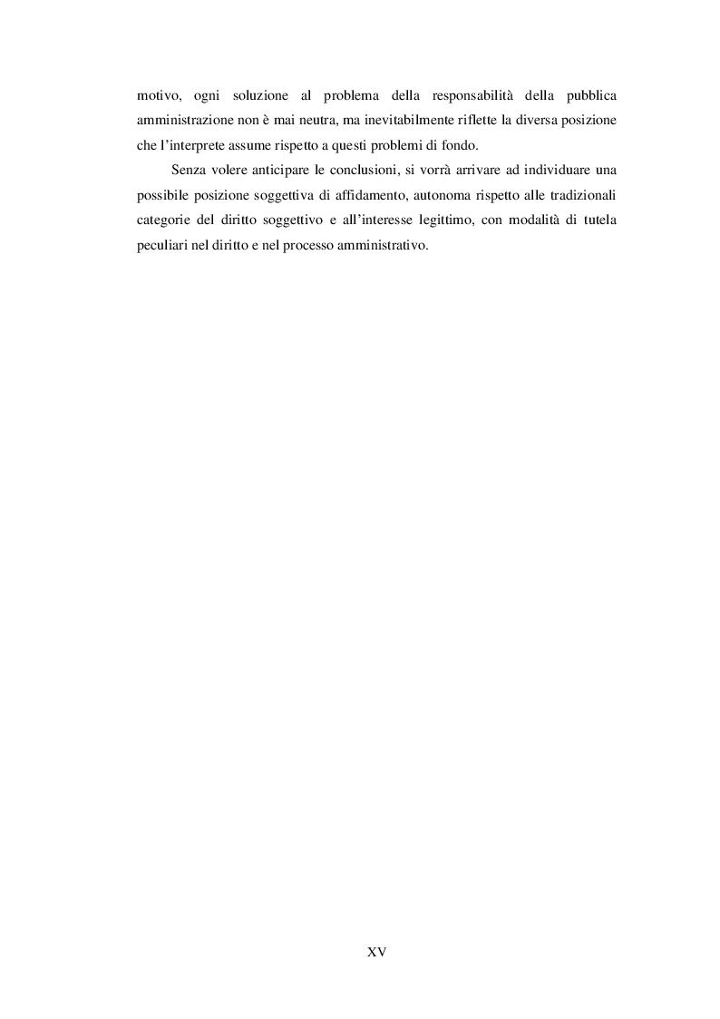 Anteprima della tesi: Affidamento dell'impresa e responsabilità procedimentale della Pubblica Amministrazione, Pagina 4
